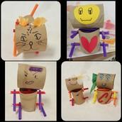 Cardboard Roll Robots