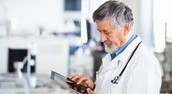 doctor focusing