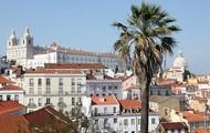 De mooie stad Lissabon in de middag