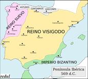 ¿Cómo se instalaron los visigodos en Hispania?