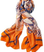Union Square Scarf - Fresh Tangerine Mixed print $27