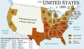 Slave vs Free States in 1860
