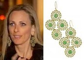 **SOLD!** GARDEN PARTY CHANDELIER EARRINGS - GREEN $19 (65% OFF)