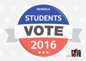 Students Voting in Primary Elections with Newsela