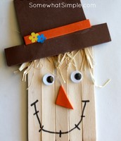 Such an artistic scarecrow!