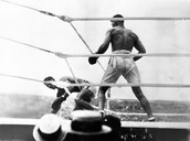 Jack Dempsey fighting Georges Carpentier