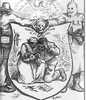 KKK Political cartoon