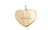 Gold Engravable Heart Charm- NEVER DISPLAYED *IN PACKAGING