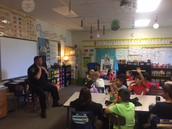 Officer Hogan and our first D.A.R.E. lesson