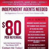 BECOME AN INDEPENDANT AGENT TODAY