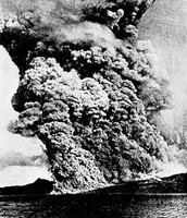 Mount Pelee erupting