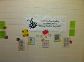 Catch the Reading Bug Library Data Wall