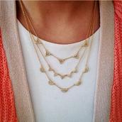 Pave Chevron Necklace- Gold $50