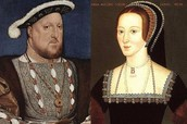 Her parents Henry VIII and Anne Boleyn