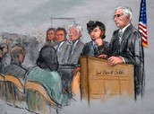 Dzhokhar Tsarnaev in court.