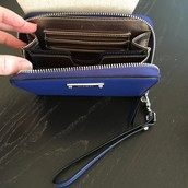 SOLD $14.75 Chelsea Zip Wallet - Cobalt Blue (RETIRED, still available online)
