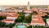 El campus universitario de la Universidad de Tejas.