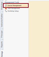 3. Click on 'Course Management'