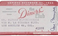 A 1950 Diners Club Card