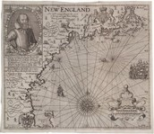 A seventeenth-century map of the New England colony.