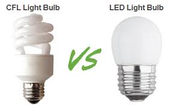 CFL light bulb v.s. LED light bulb