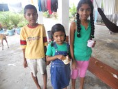 My three cousins who live in Guyana