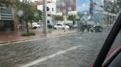 Major thunder storms flood Miami streets