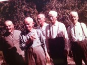 old picture of him and his friends