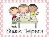 Snack Helpers Next Week: