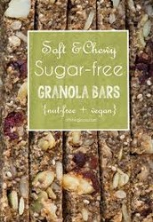 Breakfast? Salty and Chewy Sugar-Free Granola Bar and water