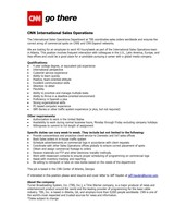 CNN International Sales Operations