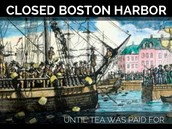 Closed the Boston Harbor