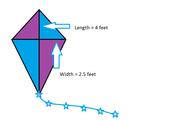 Diamond Kite Blue Print