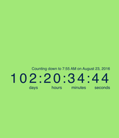 Countdown to the 1st Day of School!