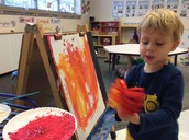 Charlie at the easel