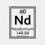 Neodymium in the Periodic Table of Elements