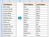 Split Names to Simplify Mail Merge