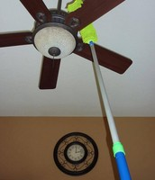 Clean Ceiling Fans FAST!
