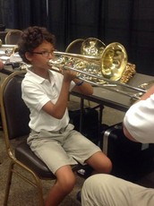 How are students matched with instruments?