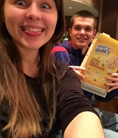 He would eat an entire box of cereal every pit orchestra rehearsal.