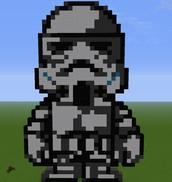 Pixel Art Stormtrooper