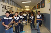 Band students ready for the parade