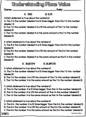 Understanding Place Value - Worksheet
