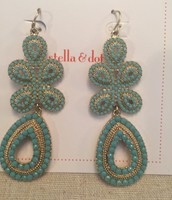 Capri Turquoise Chandelier Earrings 15.00