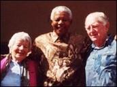 Lionel Bernstein, his wife Hilda and Nelson Mandela.