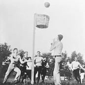 Outdside Basketball Game