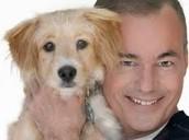 Cameron and his dog.
