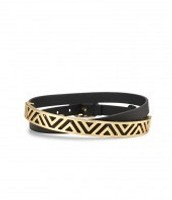 Ally Double Wrap Bracelet, black/gold (current)