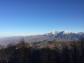 View of Mt. LeConte from Mt. Harrison in Gatlinburg, TN