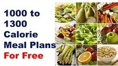 How does a 1000 calorie diet work for people who want to lose weight